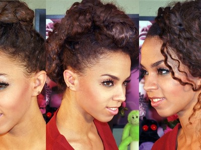 5 Updo Hairstyles in 5 Minutes! 5 Hairstyles Tutorial - Braided Ballerina, Faux Hawk, Messy Side Bun