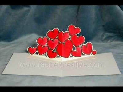 Bold Hearts Pop Up Card