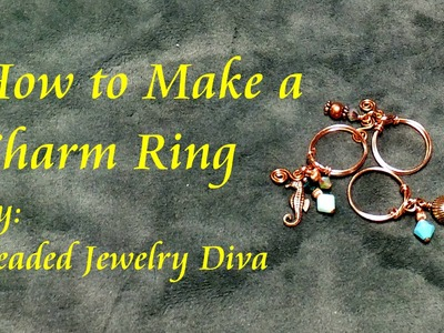 Easy Wire Ring - Charm Ring - Wire Wrap Ring