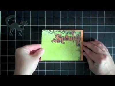 Happy Hauntings Cricut Cartridge Halloween Spooky Cat Card.m4v