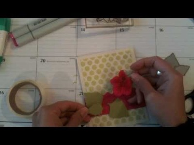 Hibiscus Card With Felt Accents