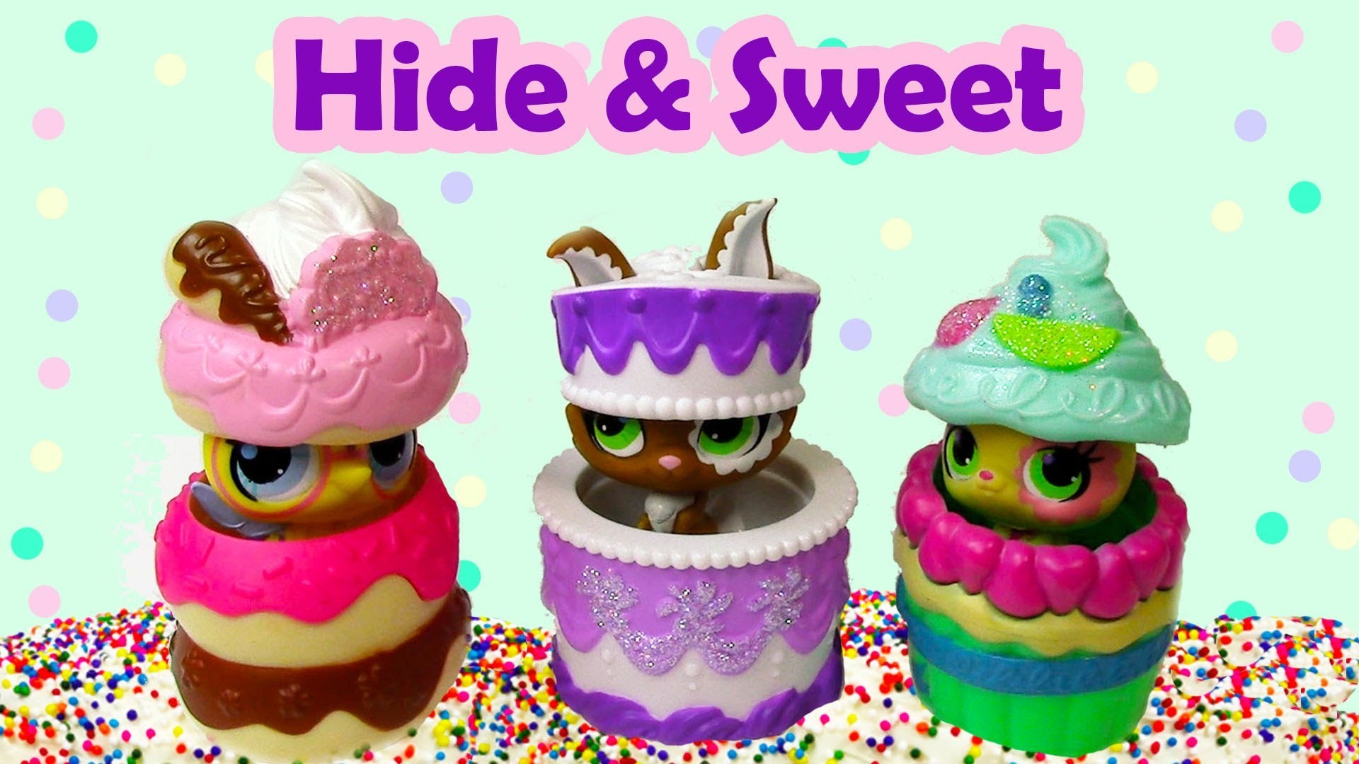 Hide & Sweet Pets Littlest Pet Shop LPS Toy Review Bunny Bee Hamster Opening