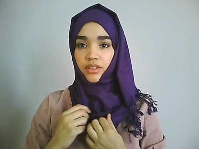 Hijab Tutorial #1: Simple Hijab Style using a Pashmina for Every Day - Suitable for Beginners