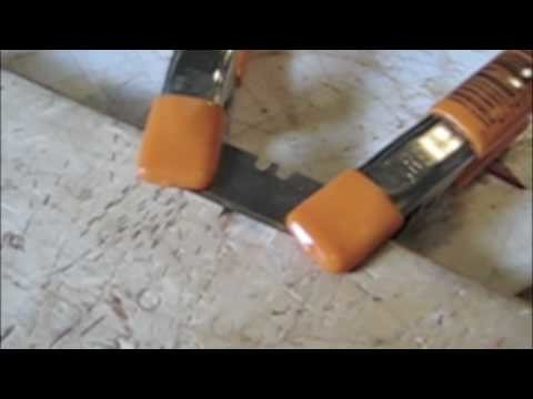 How to make a leather splitter with a cutting board and razor blade