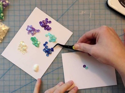 How to make a Sequin Background Card