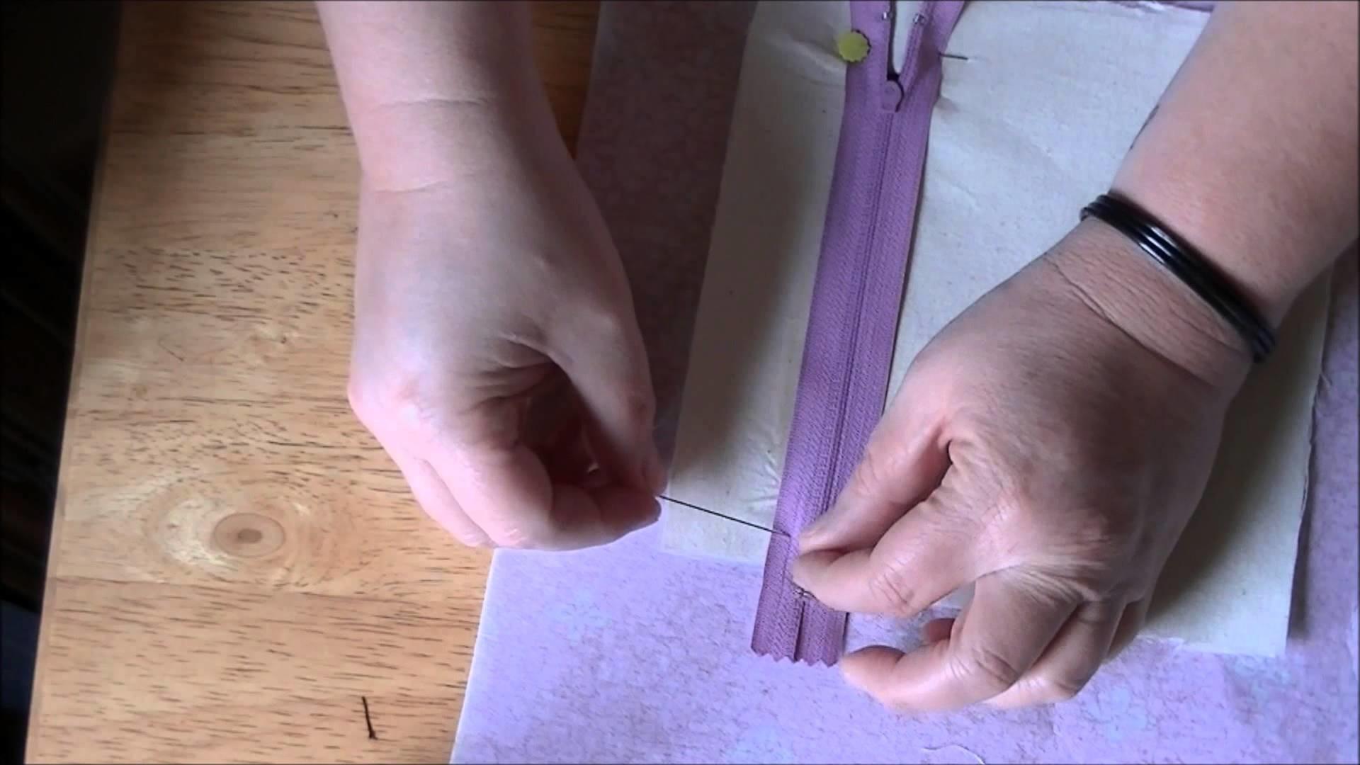 How to Make a Zipper Pocket (Inside Purse Pocket)