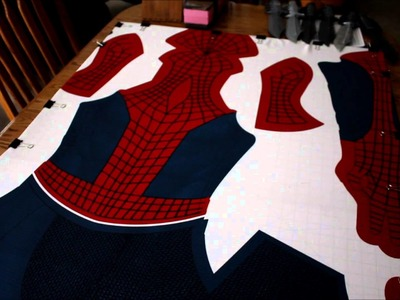 How to make Amazing Spiderman Costume Part 1