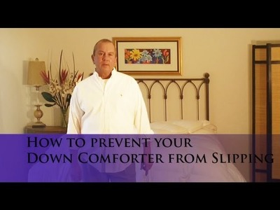 How to prevent your Down Comforter from slipping inside your Duvet Cover! (www.verolinens.com)