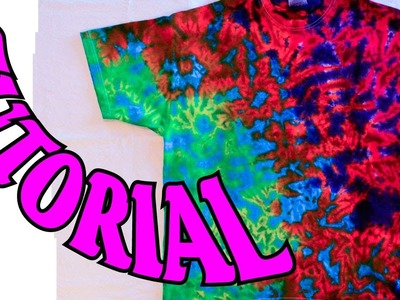 How to Tie Dye a Crinkle or Scrunch Design [Full Tutorial]