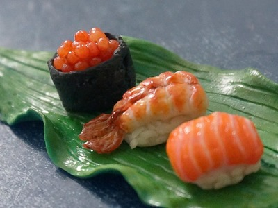Miniature sushi polymer clay tutorial