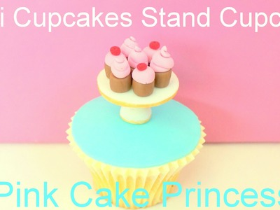Mother's Day Miniature Cupcakes Cake Stand Cupcake - How to by Pink Cake Princess
