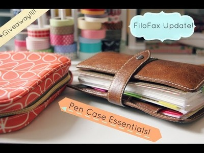 My Updated Filofax Setup! + my essential pens + a GIVEAWAY!!!