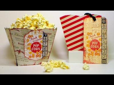 Paper Popcorn Box Tutorial (and gift idea!)