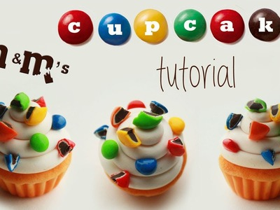 Polymer clay M&M's cupcake TUTORIAL | cupcakes project part 2