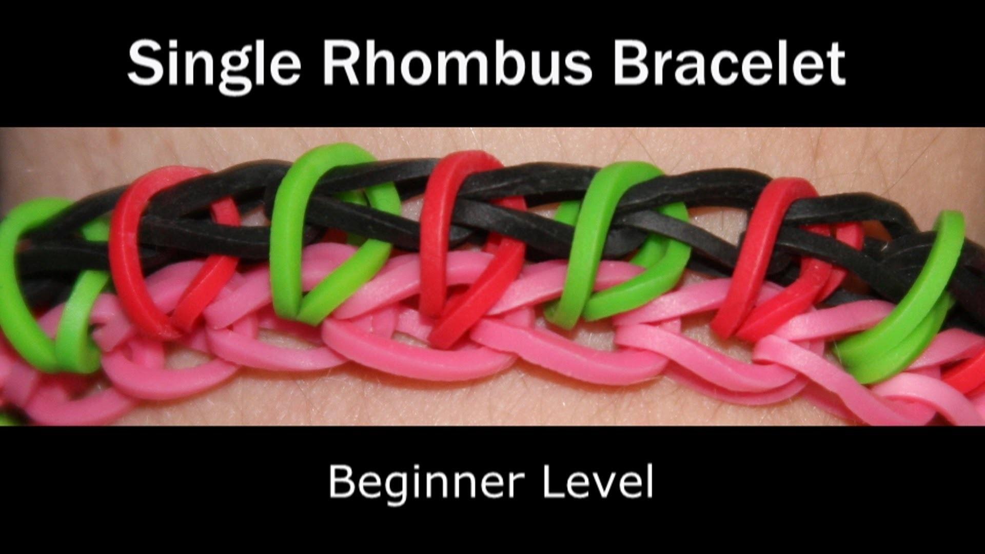Rainbow Loom® Single Rhombus Bracelet