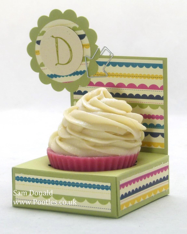 Stampin Up UK Gingham Garden Cupcake Soap Holder