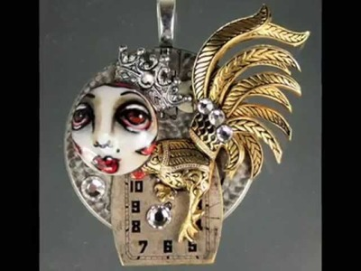Steampunk Altered Art Jewelry by Michele Lynch