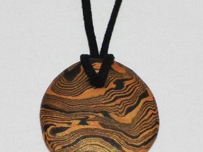 Swirled Pendant Necklace (Polymer Clay Tutorial)