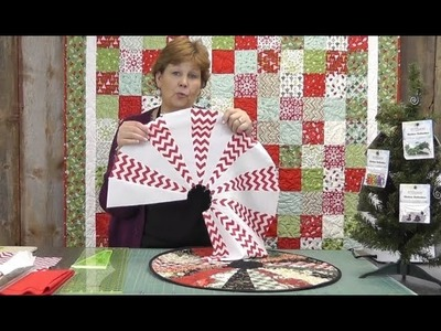 The Easiest Christmas Table Topper. Mini Tree Skirt You'll Ever Make!