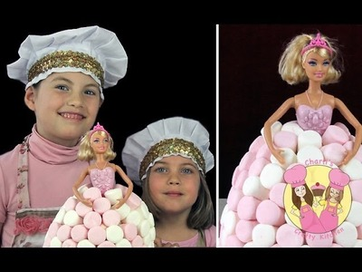 VINTAGE BARBIE BIRTHDAY CAKE!  How to make this easy cake using giant cupcake