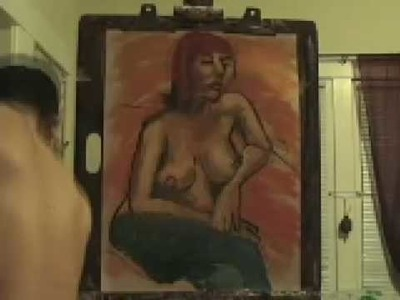Woman Sitting : Oil Painting by Paul Cumes 2009
