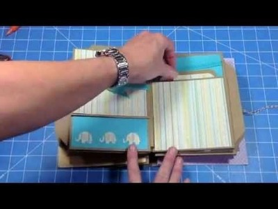 Baby Mini Album using Kathy Orta Build a Page