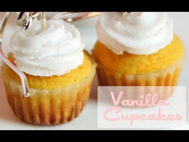 Classic Vanilla Cupcakes - Polymer Clay Dessert. Pastry Tutorial