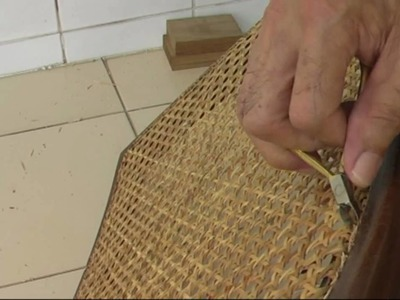 D.I.Y. Replacing A Rattan-Weave Seat