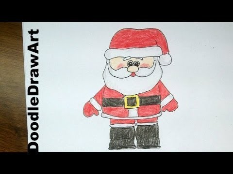 Drawing How To Draw A Cute Cartoon Santa Claus Easy