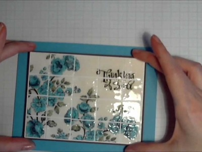 Faux Tile Technique - Thinking Of You Card