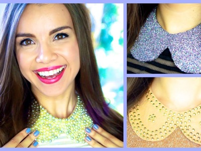 GIY Peter Pan Collar Necklaces!