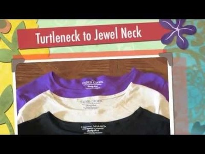 How to Change a Turtleneck into Lower Neckline