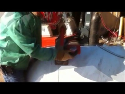 How to cut a propane tank