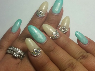 How To Do Ocean Inspired Almond Nails
