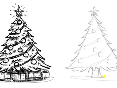 How to Draw a Christmas Tree - Things to Draw When You're Bored
