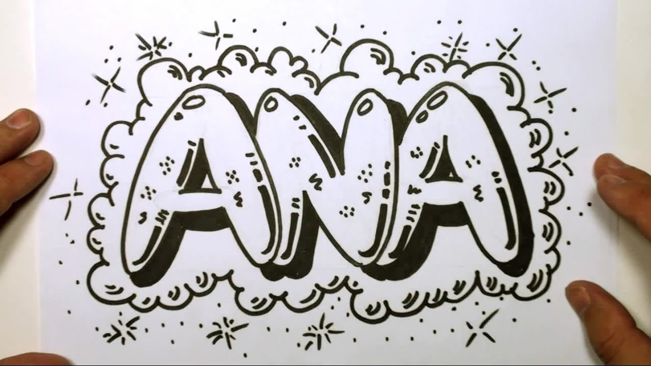 How To Draw Graffiti Letters Write Ana In Bubble Letters
