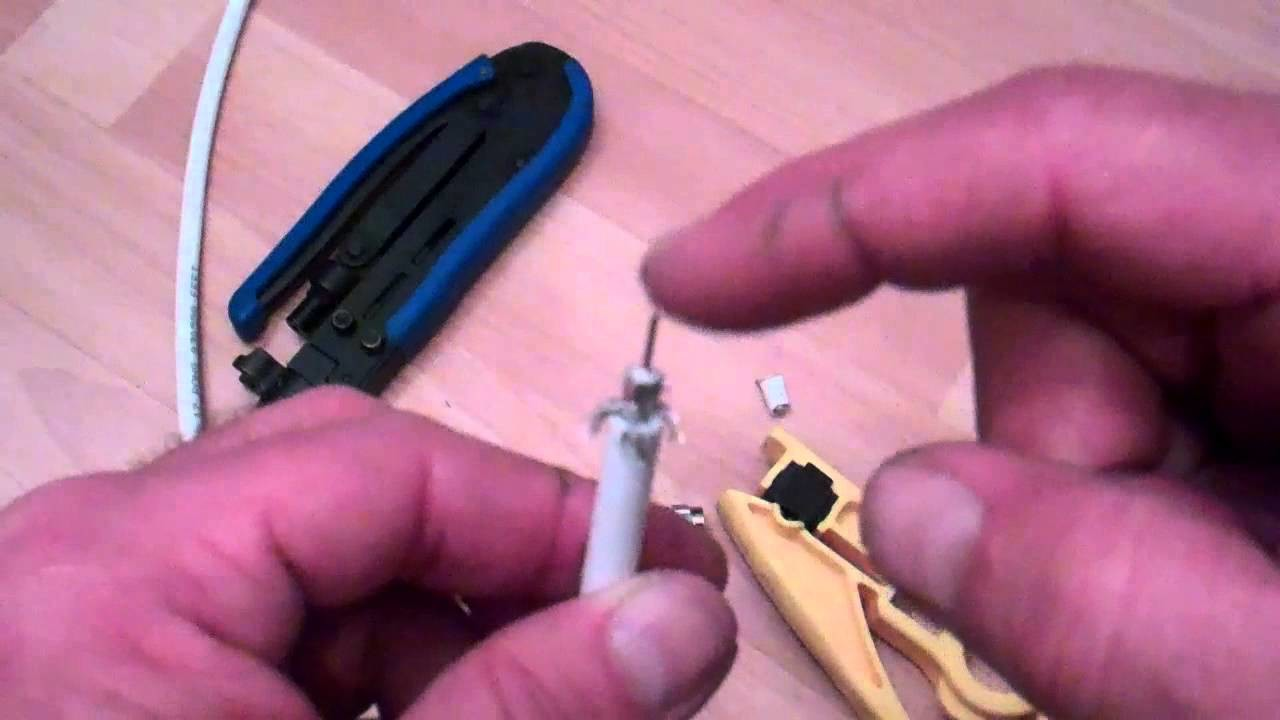 How to make a coax cable