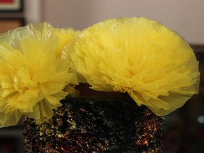 How to make a flower using plastic Carrybag