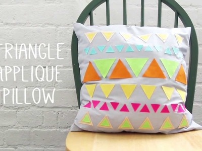 How to: Make a Geometric Triangle Pattern Cushion Cover Tutorial