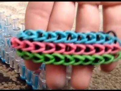 How to make a triple single rainbow loom bracelet