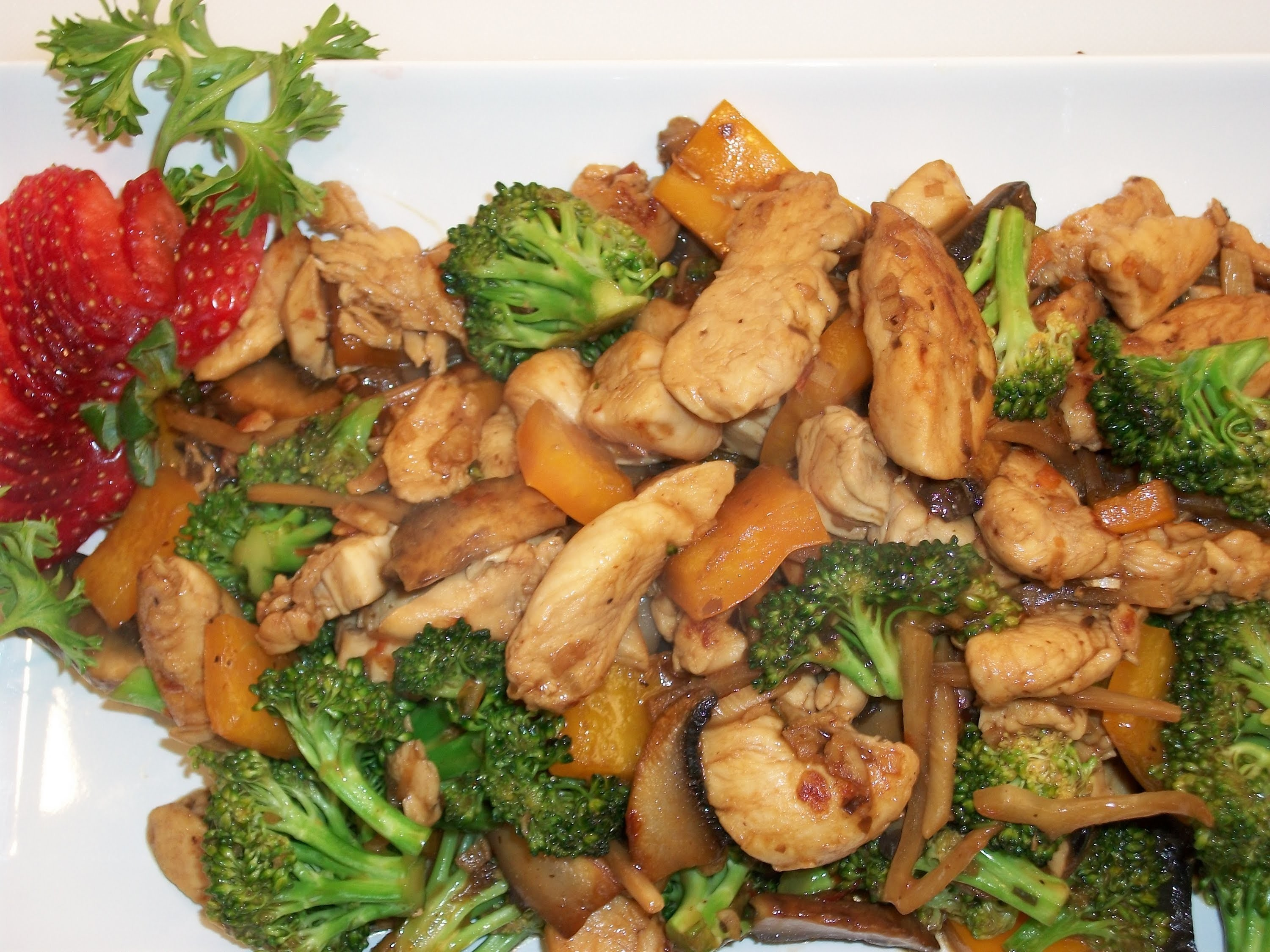 How to make hunan chicken with mixed vegetables
