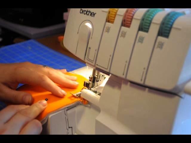 How to serge a contoured cloth diaper insert