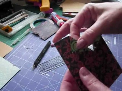 How to tutorial -  simple pocket inserts that will fit the no binding mini album or any other album.