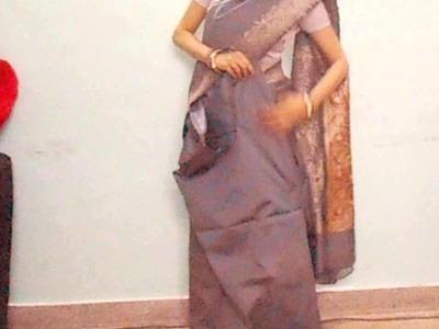 How To Wear Silk Saree-How To Drape Indian Saree.Sari Tutorial Video