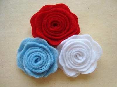 LITTLE FELT ROSE, # 6, fashions by Carlitto