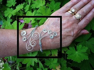 MAKE A SCROLLED BRACELET, wire wrapped, jewelry making lessons