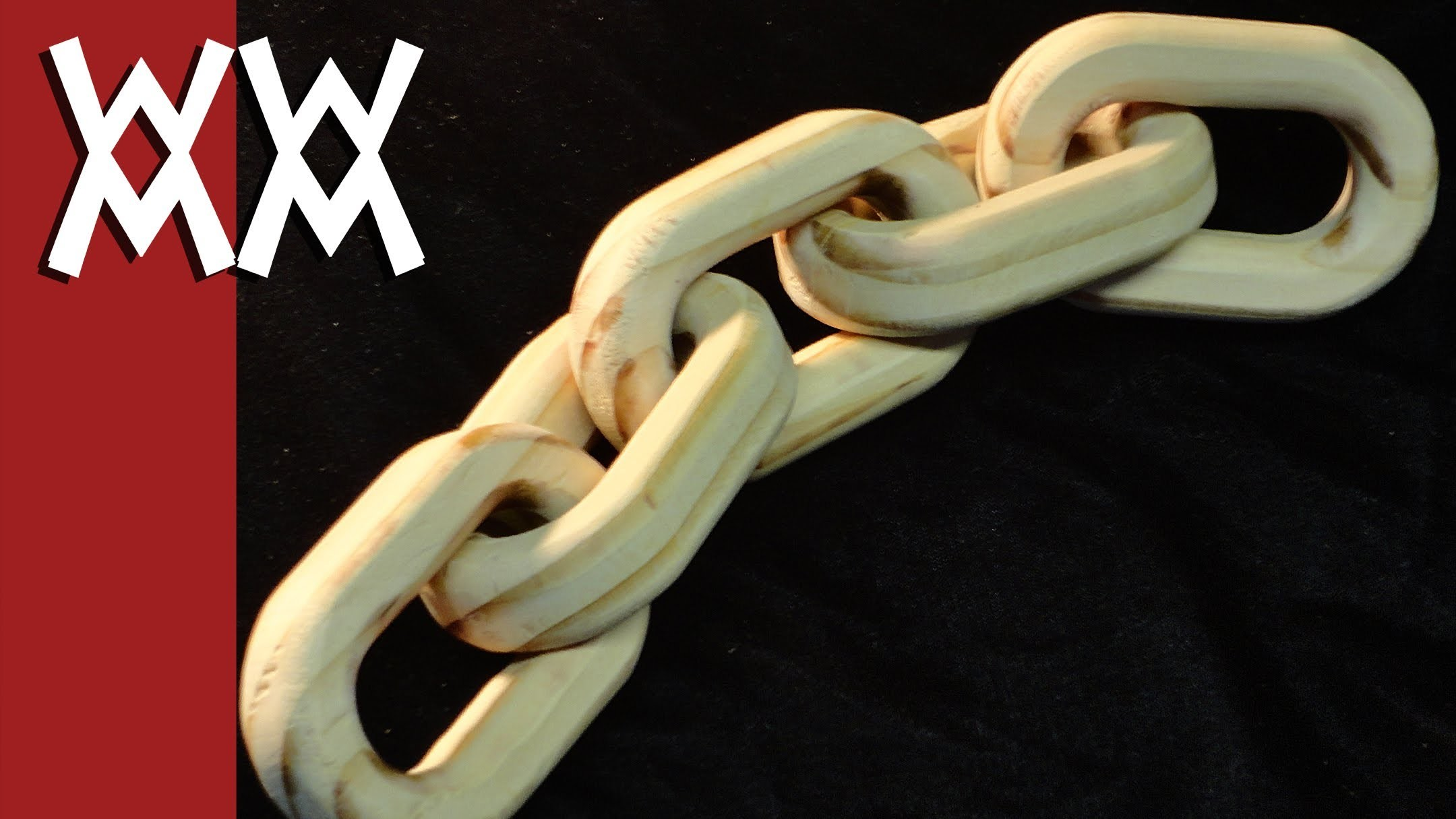 Make a wood chain using a router