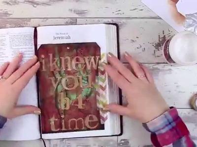 Mixed Media Tag Tutorial - Bible Art Journaling Challenge Week 15