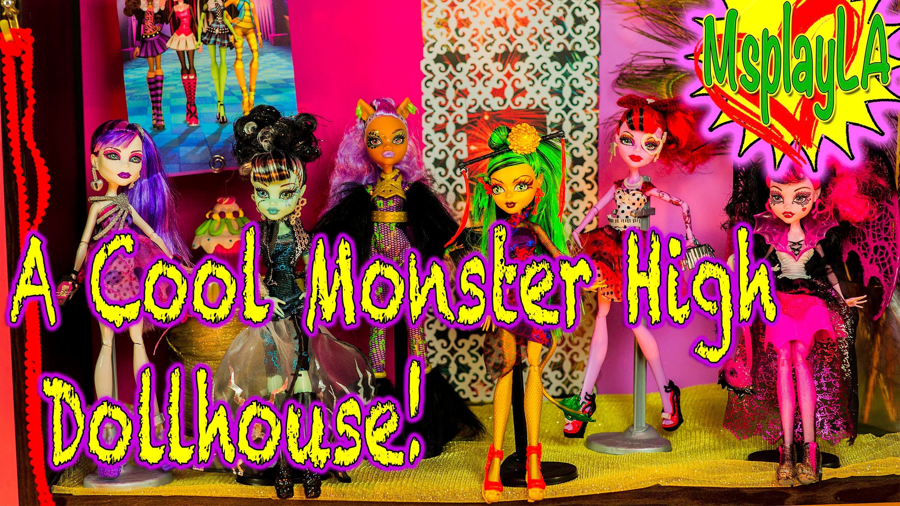 Monster High Dolls - Making a Cool Doll House for Our Monster High Dolls on MsPlayLA