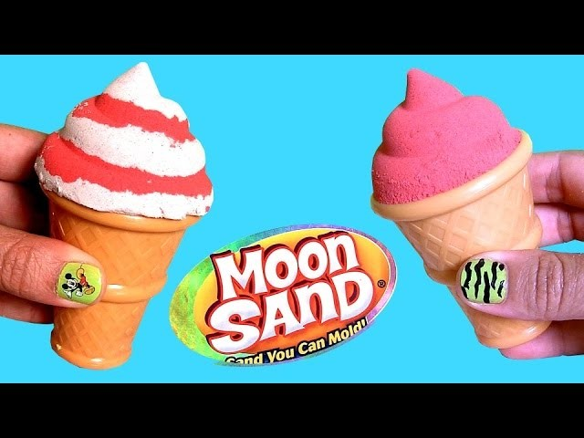 Moon Sand Ice Cream Sundae Sweet Delights ❤ How to Make Frozen Desserts & Cones with Sand
